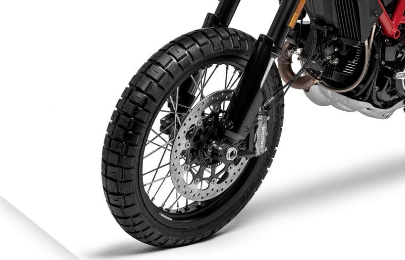roue avant pneu scrambler